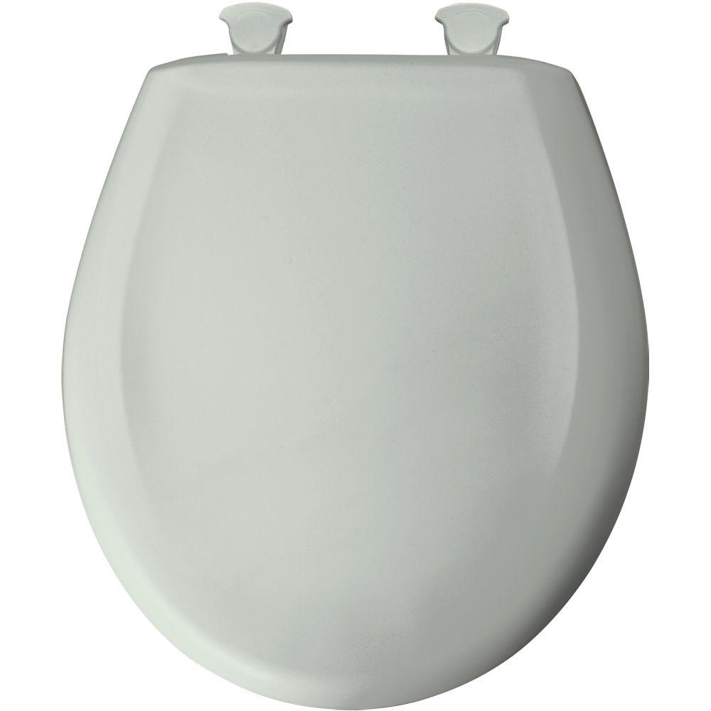 Round Closed Front Toilet Seat in Sage