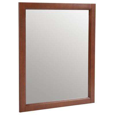 Catalina 25.7 in. W x 31.4 in. H Framed Wall Mirror in Amber