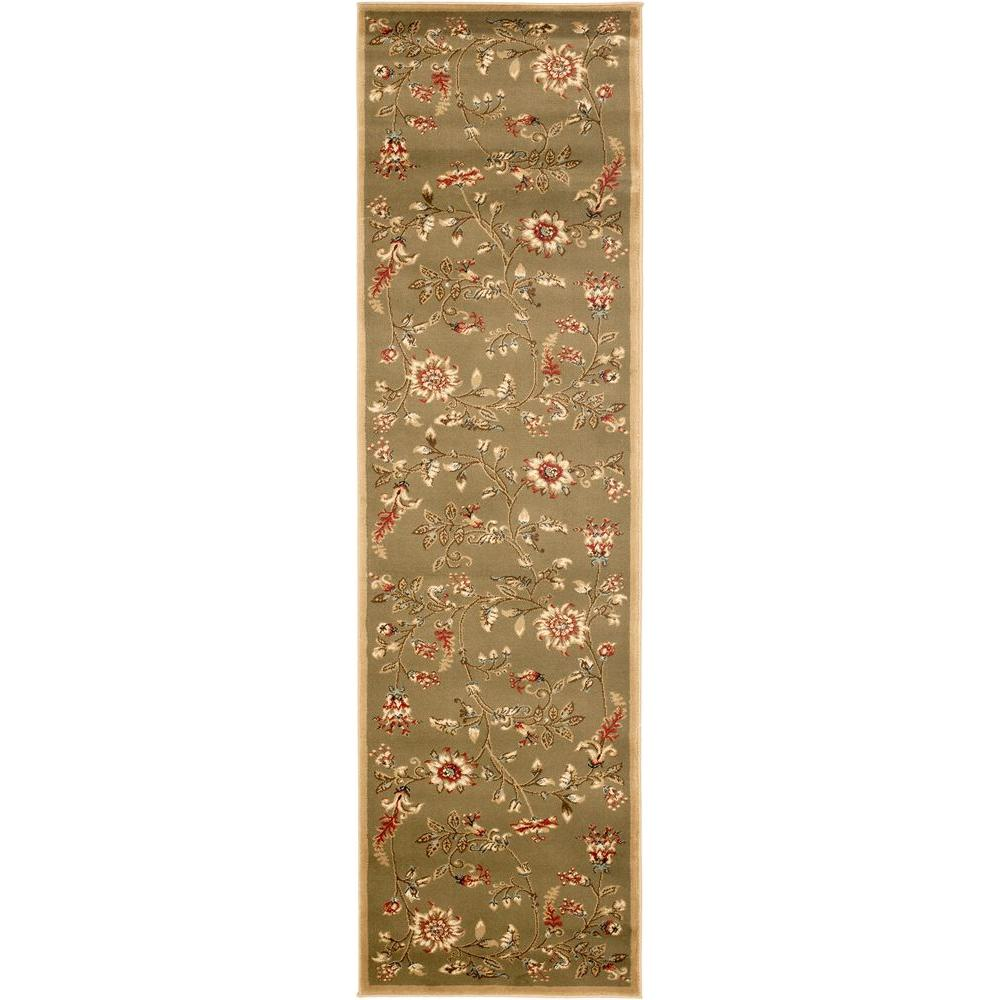 Safavieh Lyndhurst Green/Multi 2 ft. 3 in. x 8 ft. Runner