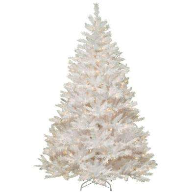 7 ft. Winchester White Pine Artificial Christmas Tree with Clear Lights