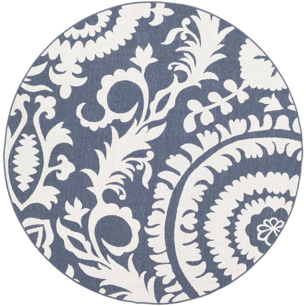 Artistic Weavers Felix Navy 5 Ft 3 In X 5 Ft 3 In Round Floral