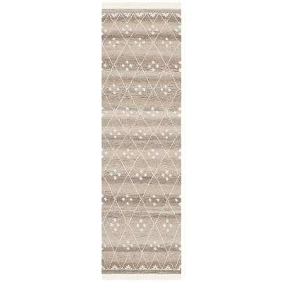 Natural Kilim Natural/Ivory 2 ft. 3 in. x 10 ft. Runner Rug