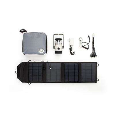 Heli 4400 Kit AC Wall Adapter/10-in-1/DC Car Charger/Carrying Case/14-Watt Solar Panel with USB Connection in Lt.Gray