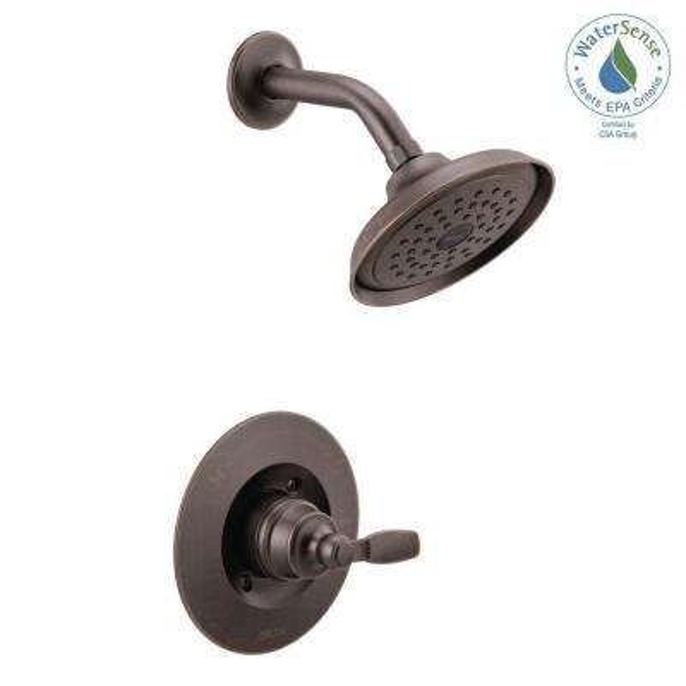 Woodhurst 1-Handle Wall Mount Shower Trim Kit in Venetian Bronze (Valve Not Included)