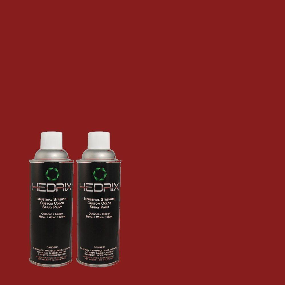 Hedrix 11 oz. Match of PPH-73 Red Candle Gloss Custom Spray Paint (2-Pack)
