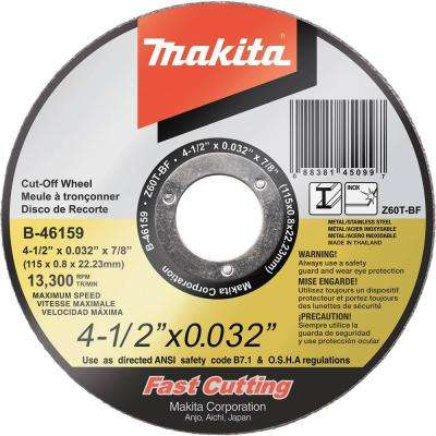 4-1/2 in. x 0.032 in. x 7/8 in. Ultra Thin Stainless Cut-Off Wheel (25-Pack)