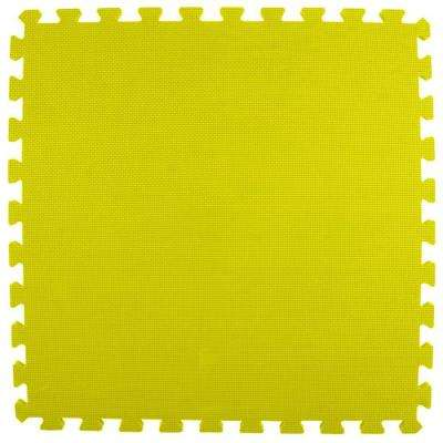 Premium Yellow 24 in. x 24 in. x 5/8 in. Foam Interlocking Floor Mat (Case of 25)