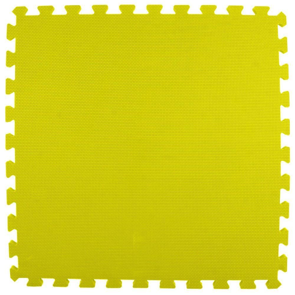 Premium Yellow 24 in. x 24 in. x 5/8 in. Foam Interlocking Floor Mat (Case of 25)