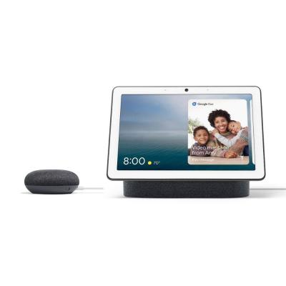 "Nest Hub Max 10"" Smart Display Charcoal + Nest Mini (2nd Gen) Smart Speaker Charcoal"