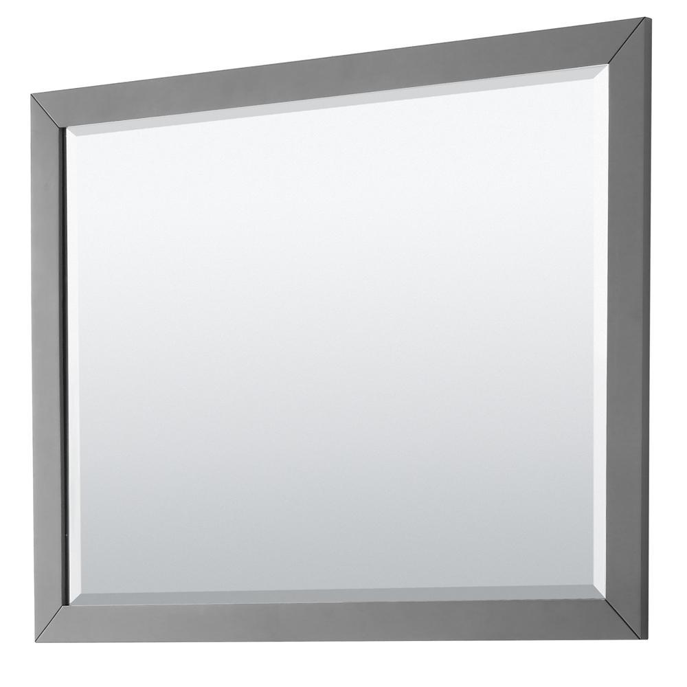 Daria 46 in. W x 33 in. H Framed Wall Mirror in Dark Gray