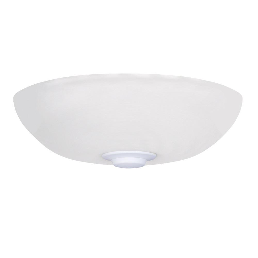 Harlow Opal Matte LED Array Satin White Ceiling Fan Light Kit