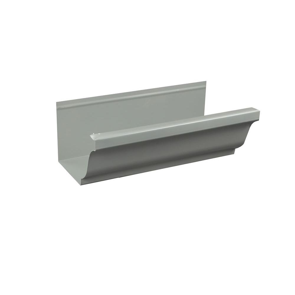 Spectra Metals 5 In X 8 Ft K Style Pearl Gray Aluminum