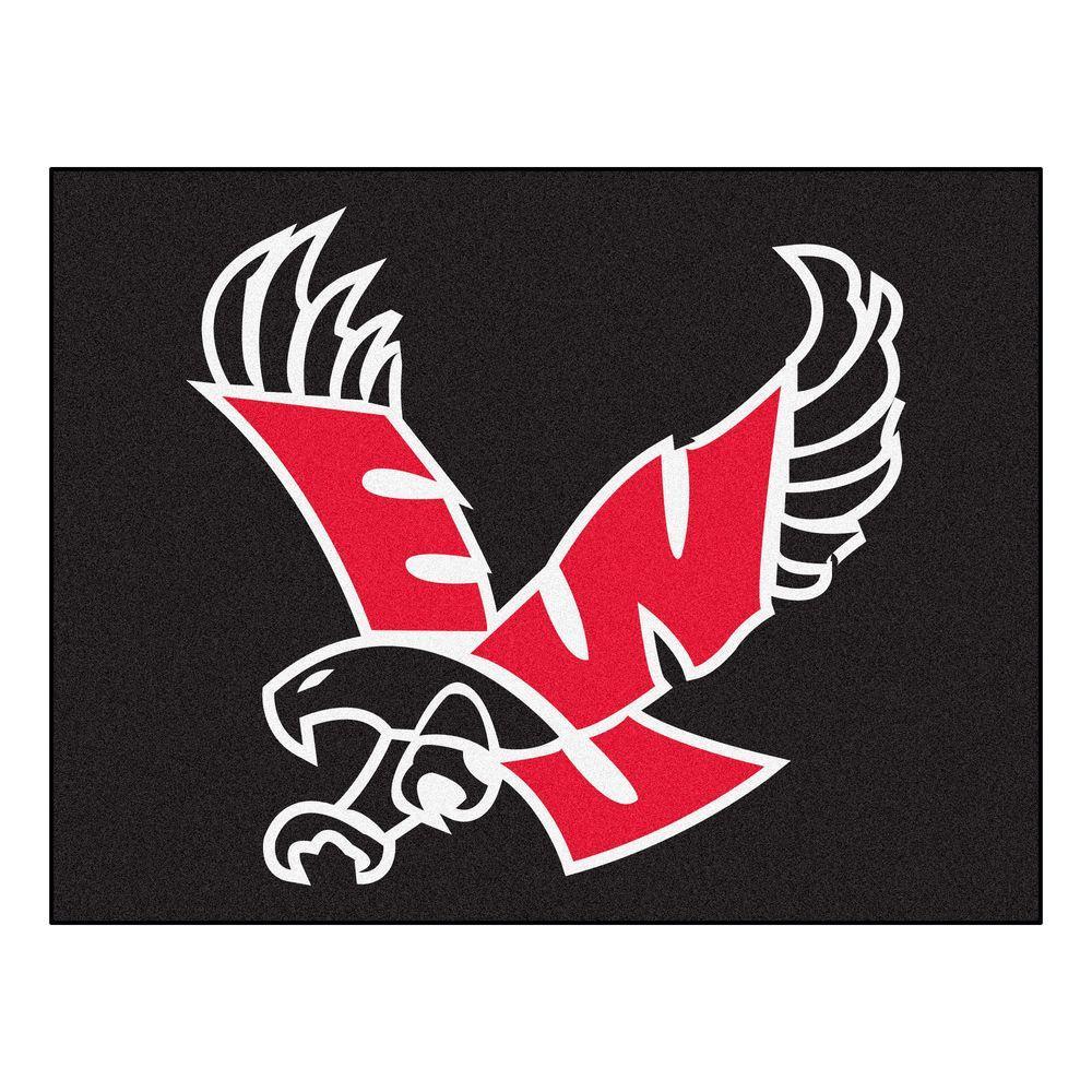 NCAA Eastern Washington University Black 3 ft. x 4 ft. Area Rug