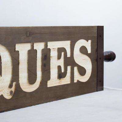 Antiques Wood Wall Sign