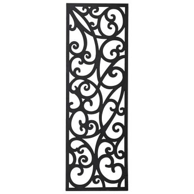 Matrix 0.3 in. x 23.6 in. x 5.9 ft. Charcoal Wrought Iron Recycled Plastic Decorative Fence Panel
