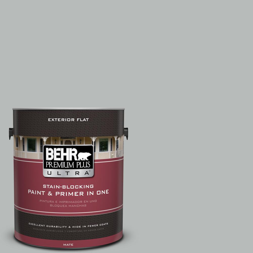 1 gal. #T18-19 Quiet Time Flat Exterior Paint
