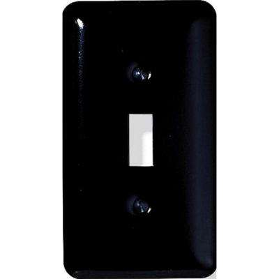 Steel 1 Toggle Wall Plate - Black