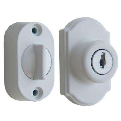Keyed Deadbolt Painted in White