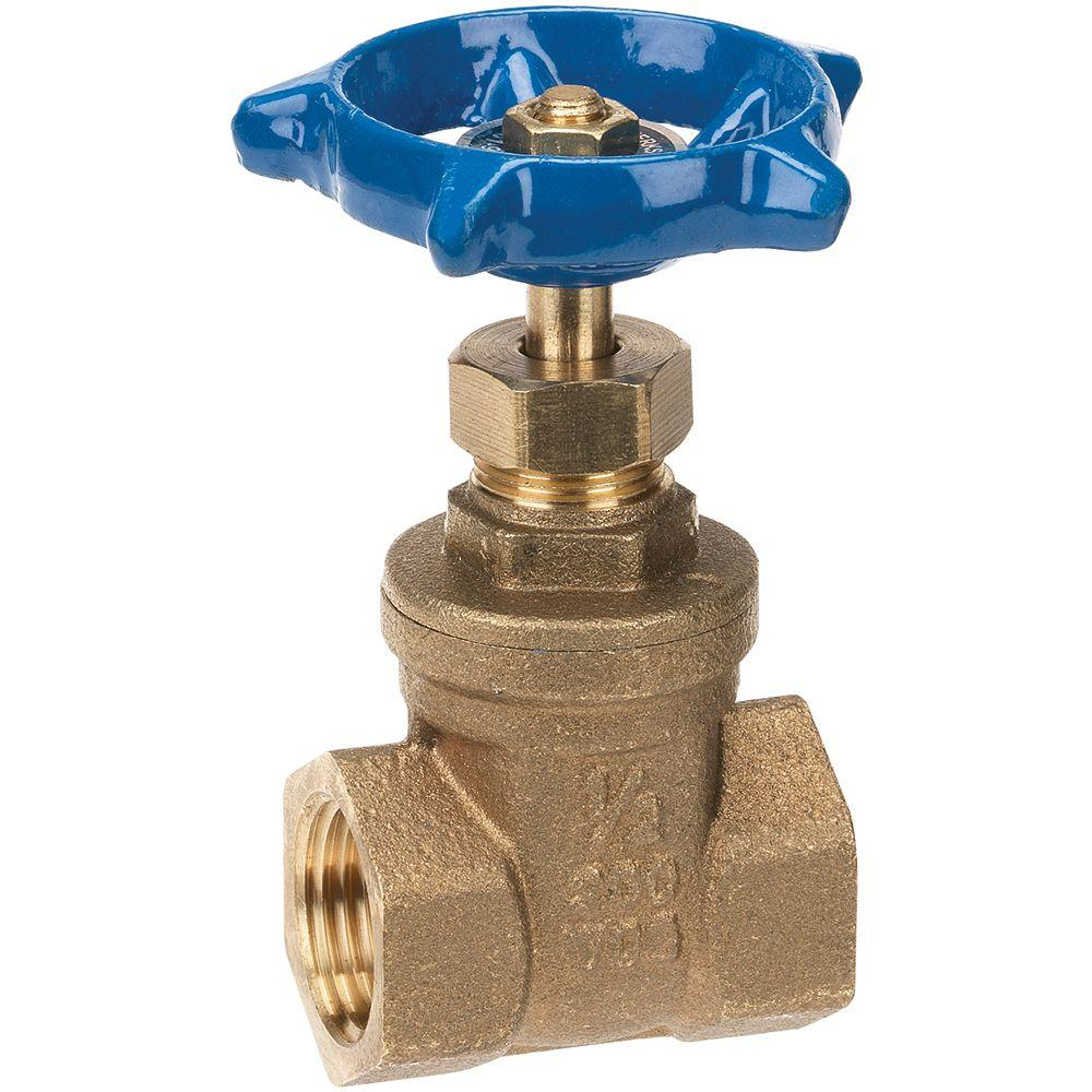 1-1/2 in. Brass FIP x FIP Gate Valve