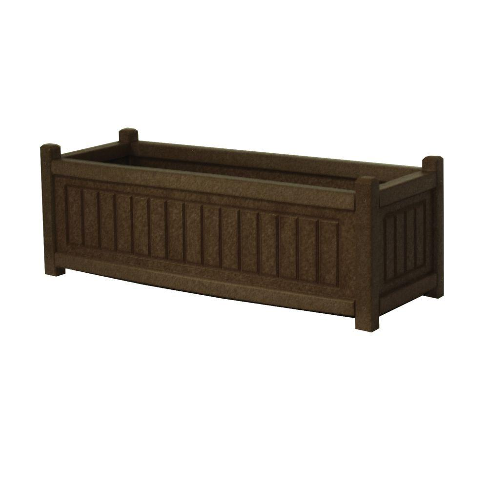 Nantucket 34 in. x 12 in. Brown Recycled Plastic Commercial Grade