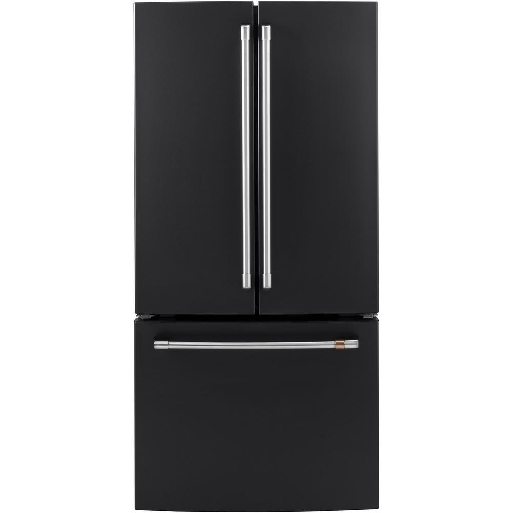 18.6 cu. ft. French Door Refrigerator in Matte Black, Fingerprint Resistant,