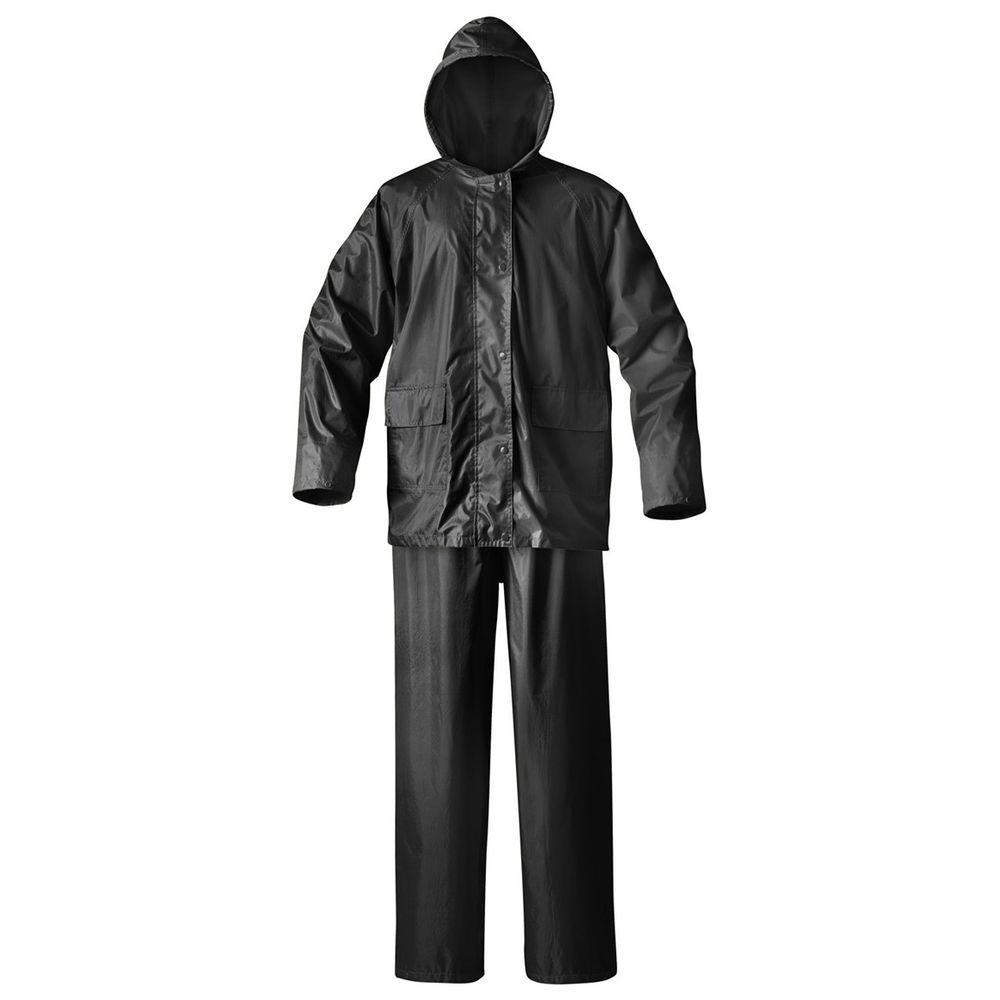 Mens Simplex X-Large Black Rainsuit