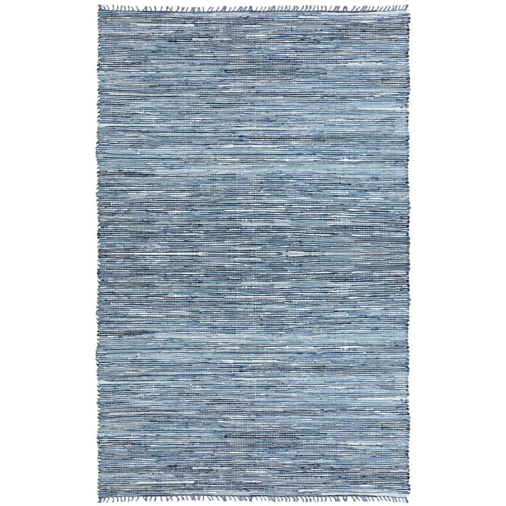 Leather Matador Blue 8 ft. x 10 ft. Area Rug, Mixed Blue ...