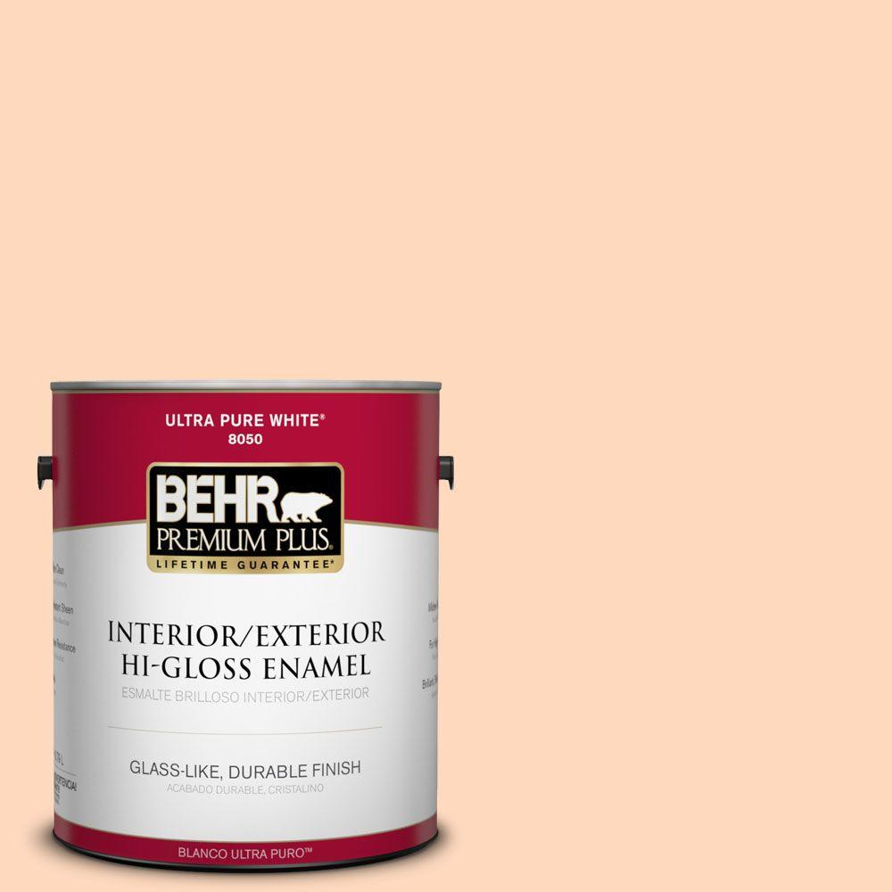 BEHR Premium Plus 1-gal. #270C-2 Shrimp Cocktail Hi-Gloss Enamel Interior/Exterior Paint