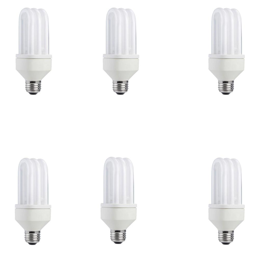 Philips 75-Watt Equivalent T2 Spiral SLS Universal Triple Tube CFL ...