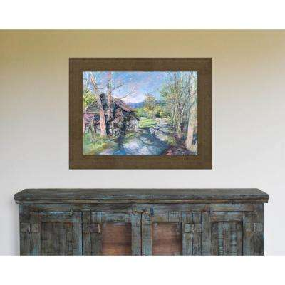 23.5 in. x 29.5 in. 'Past the Mill' by William Suttles Fine Art Canvas Framed Print Wall Art