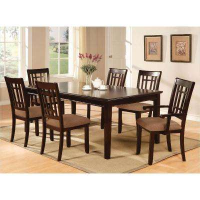 Central Park I 7-Piece Dark Cherry Finish Dining Set