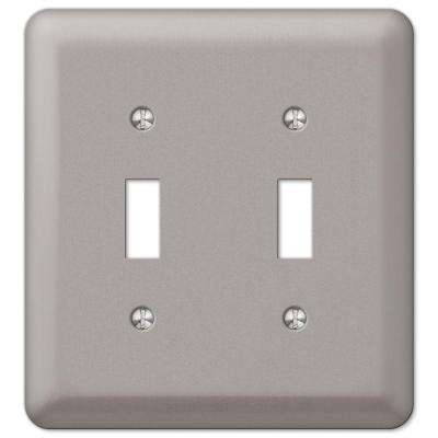 Declan 2 Toggle Wall Plate - Pewter