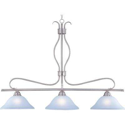 Basix 3-Light Satin Nickel Pendant