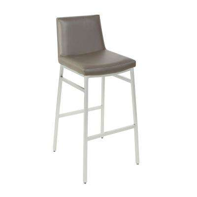 Norton 29 in. Charcoal Metal Upholstered Barstool