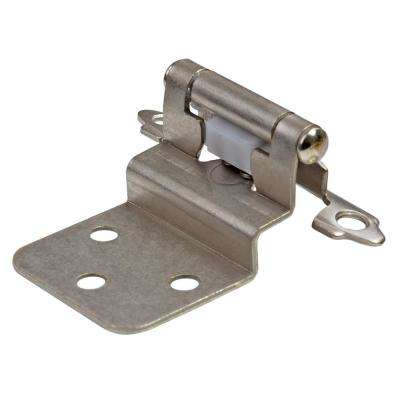 Satin Nickel 3/8 in. Inset Hinge (25-Pairs)