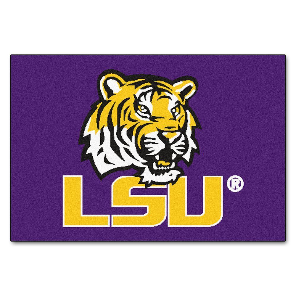 best website 732a7 2c141 FANMATS NCAA Louisiana State University Purple 19 in. x 30 in. Rectangular  Indoor Starter