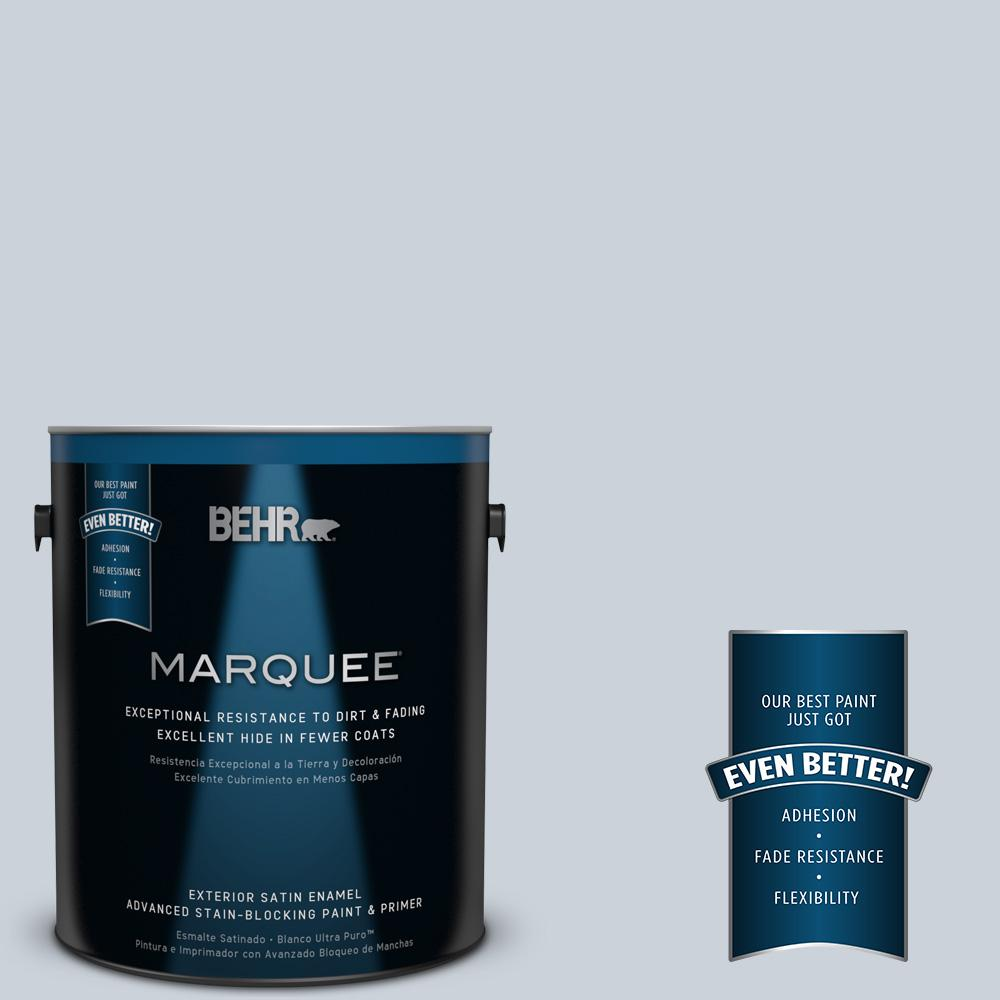 BEHR MARQUEE 1-gal. #N480-1 Light Drizzle Satin Enamel Exterior Paint