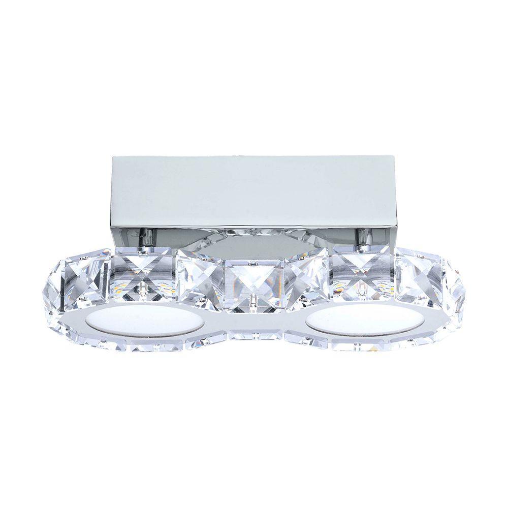 Corliano 2-Light Chrome Integrated LED Ceiling Light