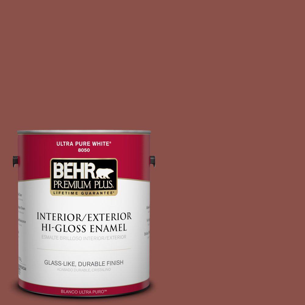 1-gal. #S150-6 Spiced Berry Hi-Gloss Enamel Interior/Exterior Paint