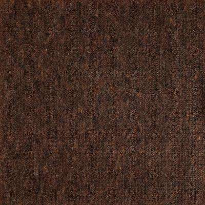 Fedora Walnut Texture 19.7 in. x 19.7 in. Carpet Tile (6 Tiles/Case)