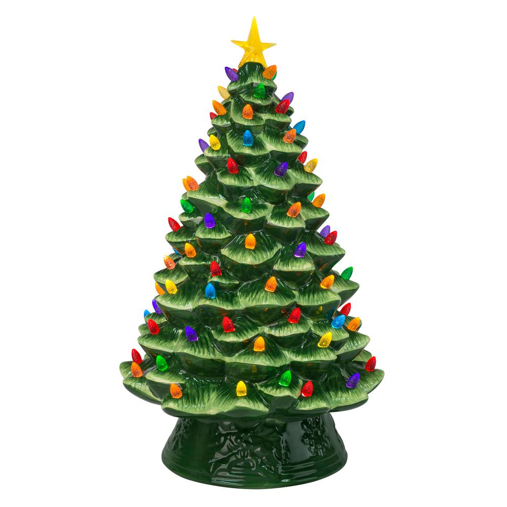 Ceramic Christmas Tree.Mr Christmas 18 In Nostalgic Christmas Tree In Green