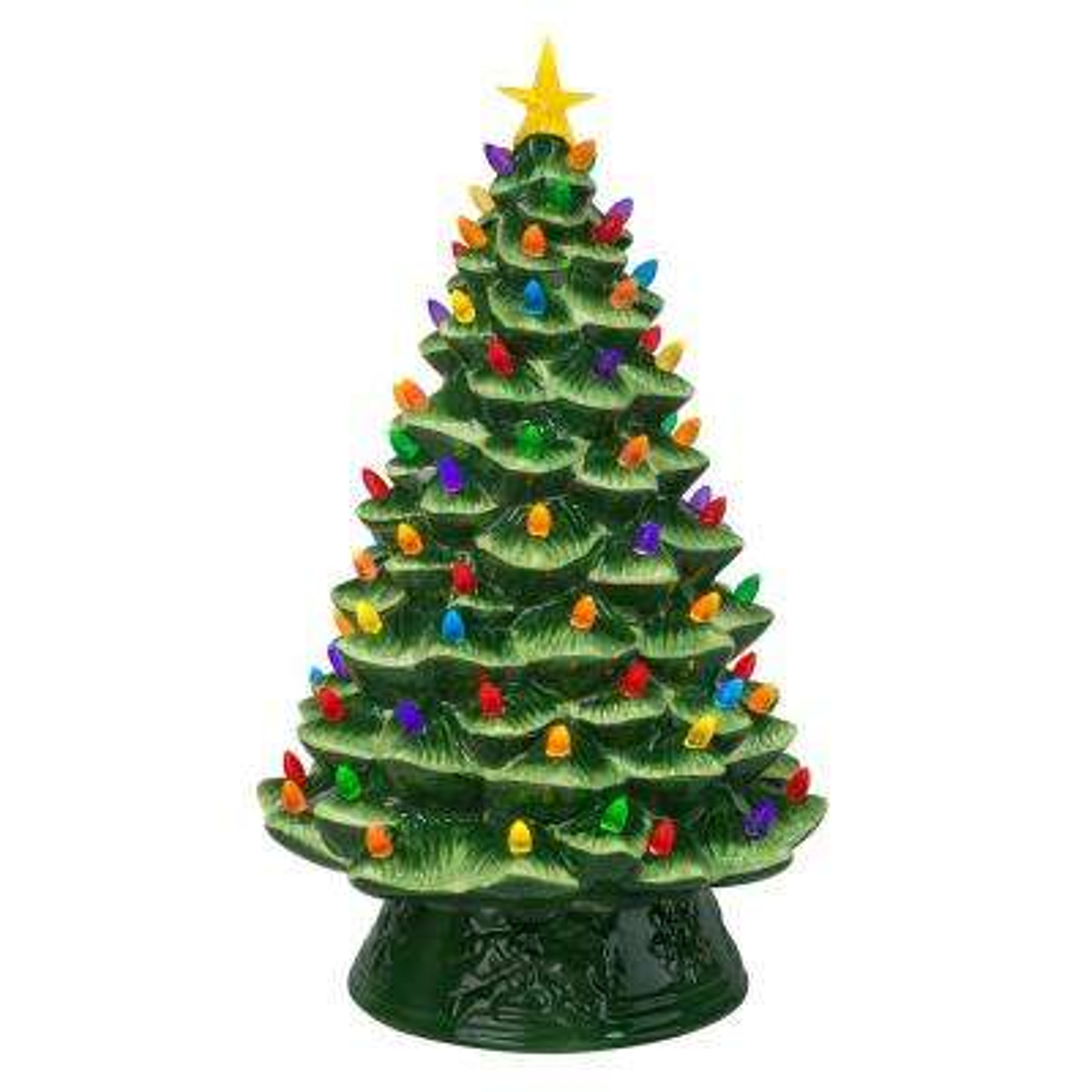 18 in. Nostalgic Christmas Tree in Green