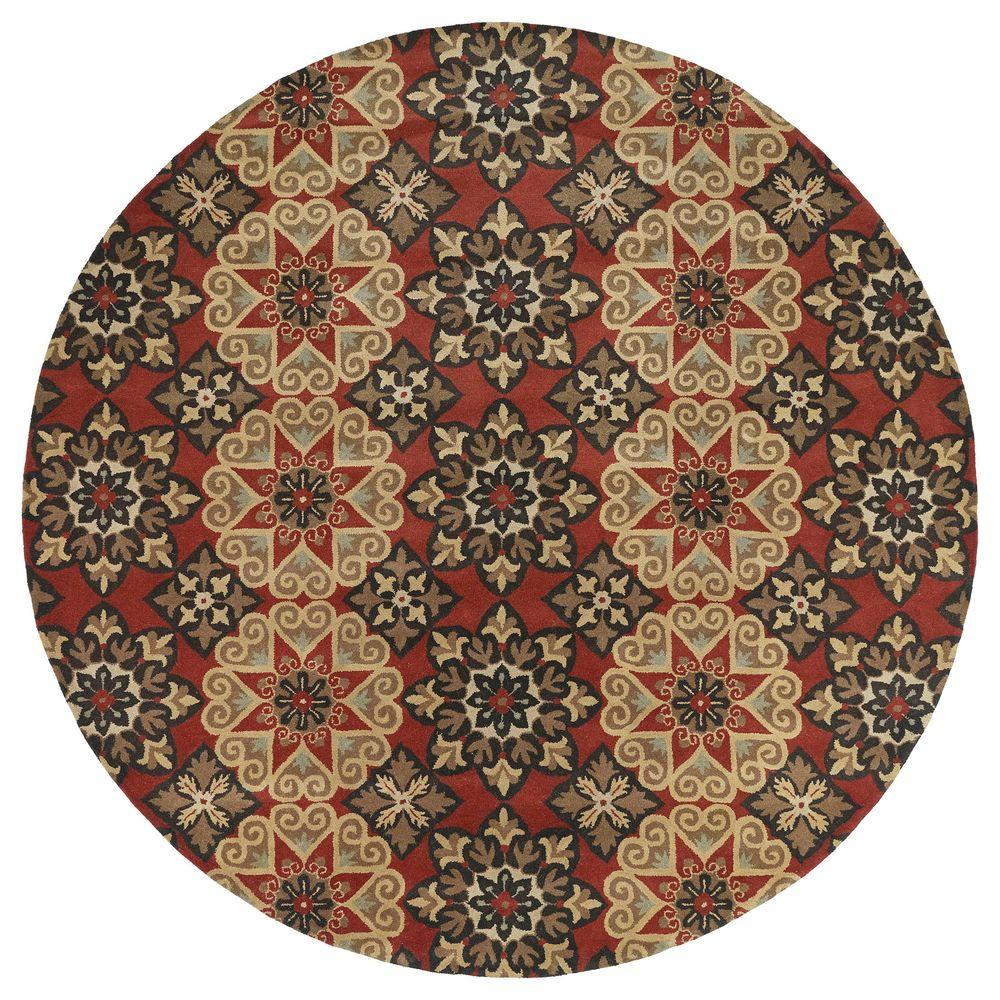 Kaleen Mystic Papal Salsa 5 ft. 9 in. x 5 ft. 9 in. Round Area Rug