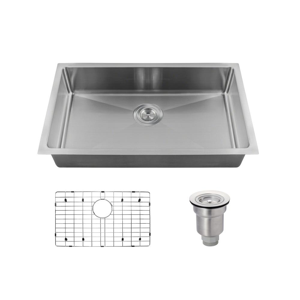 kitchen sinks direct mr direct all in one undermount stainless steel 18 in 3004