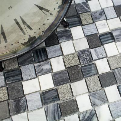 Drumlin Oxford Gray Squares 12.25 in. x 12.25 in. x 8mm Honed Marble Mosaic Tile