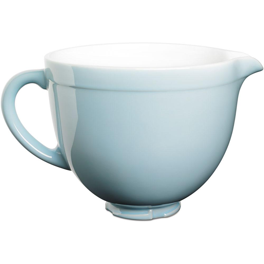 KitchenAid 5 qt. Tilt-Head Ceramic Bowl in Glacier Blue-KSMCB5GB ...