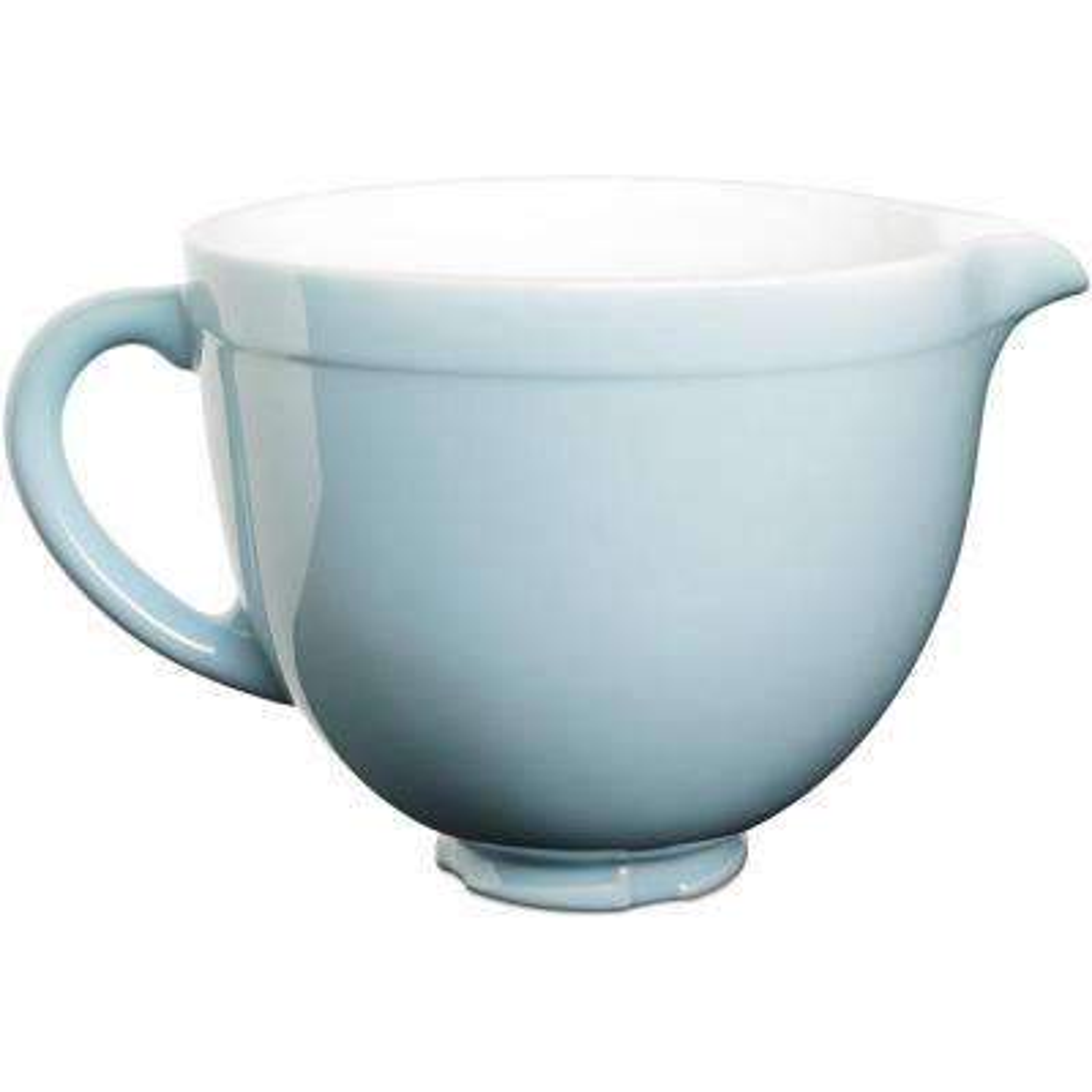 5 qt. Tilt-Head Ceramic Bowl in Glacier Blue