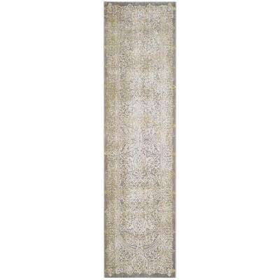 Passion Gray/Green 2 ft. x 8 ft. Runner Rug
