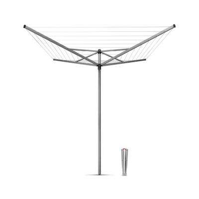 Brabantia Topspinner Rotary Clothesline with Ground Spike, 131ft. (40m)