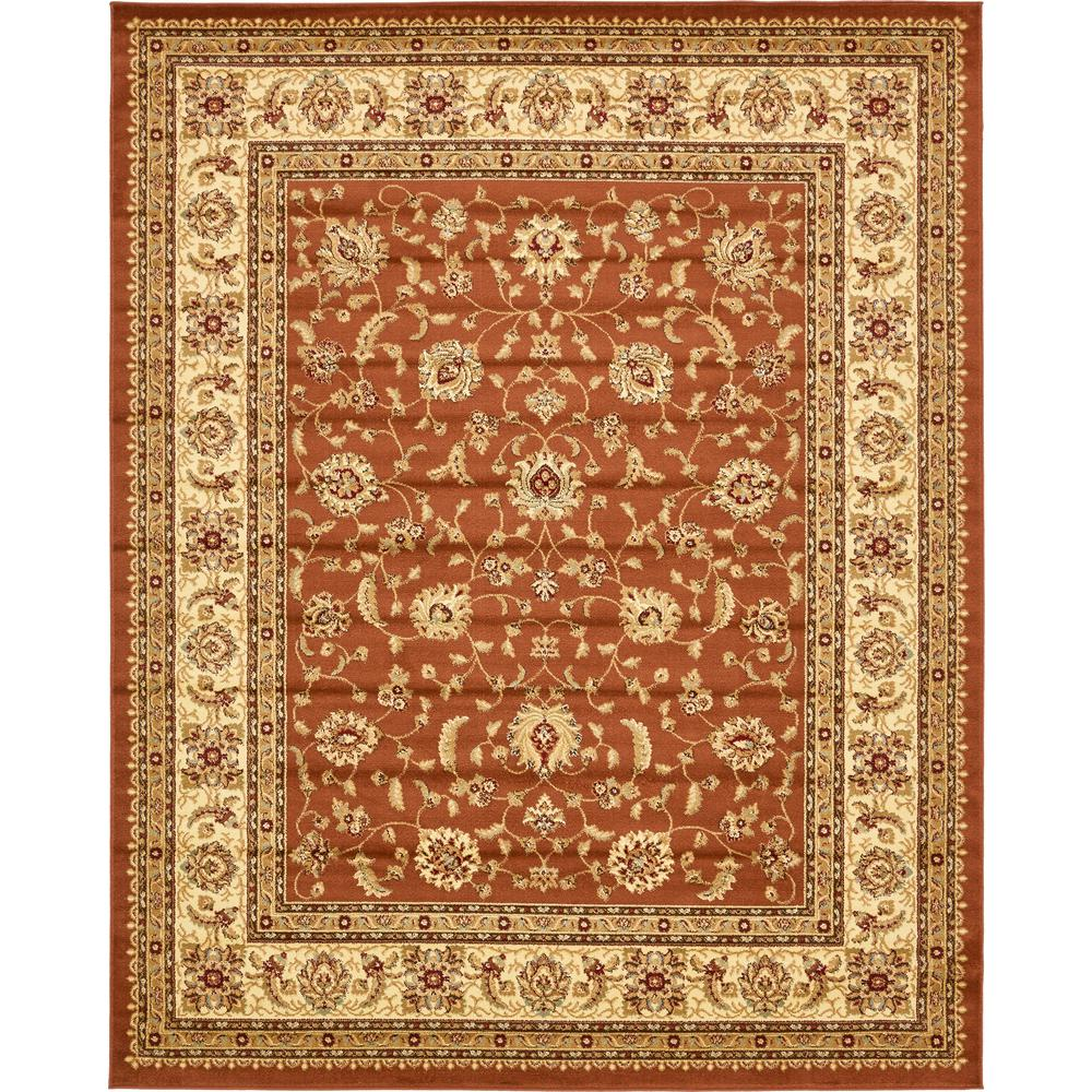 Unique Loom Agra Brick Red 8 Ft. X 10 Ft. Area Rug-3132934